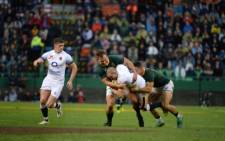 Jesse Kriel after a good hit-up from Steven Kitshoff and grubber by Warrick @WarrickGelant England lead 15-10. Picture: Twitter