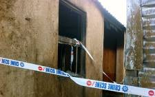 The house in which 3 boys burnt to death in Soweto on 20 June 2012. Picture: Rahima Essop/EWN