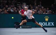 FILE: Roger Federer in action during a Paris Masters semifinal match against Novak Djokovic. Picture: @RolexPMasters/Twitter