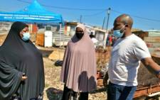 Gauteng Human Settlements MEC Lebogang Maile visited the Mhlala family on 10 April 2021. The department was directed to rebuild the family's house after a probe by the public protector found the Red Ants had unlawfully demolished the structure in 2017. Picture: Twitter/@lupingcayisa