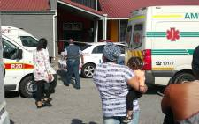 Emergency services were on the scene after four armed men stormed the shopping complex yesterday and killed the elderly man. Picture: Noor Adams/Facebook.