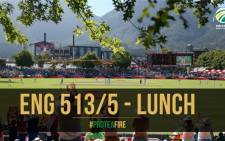 South Africa/England tour; results as teams break for lunch at Newlands. Picture: CSA.