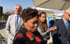 Basic Education Minister Angie Motshekga at Skeen Primary School in Alexandra township. Picture: Katleho Sekhotho/EWN