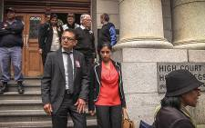 FILE: Anni Hindocha Dewani's father and relatives leaving the Western Cape High Court. Picture: Thomas Holder/EWN.