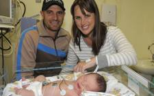Hayden and Tarryn Ford from Umhlanga, with miracle baby Joel. Picture: Netcare.