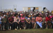 Zwelihle residents met with Minister of Police, Bheki Cele following ongoing protests in the area. Picture: Cindy Archillies/EWN