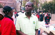 ANCYL Deputy President Ronald Lamola at the Cosatu march. Picture: Tshepo Lesole/EWN