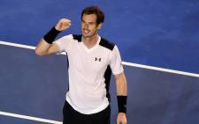 Andy Murray of the United Kingdom celebrates his win over David Ferrer of Spain in a quarterfinal match at the Australian Open tennis tournament in Melbourne. Picture: EPA/Joe Castro.