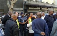 FILE: Johannesburg Mayor Herman Mashaba at the scene of a raid. Picture: Twitter/@HermanMashaba