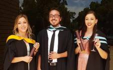 From left; Christine, Marko and Simone Bester during their graduation day at Stellenbosch University. Picture: Supplied.