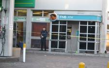An FnB ATM was blown up at BP garage in Athlone Industria on the corners of Reen and Dawid Roads on Wednesday 11 September 2012. Picture: Supplied