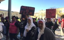 Cape Town mothers who've lost loved ones through gang violence gathered at the Castle of Good Hope to highlight their suffering ahead of a march to Parliament on 1 August 2019. Picture: Kevin Brandt/Eyewitness News