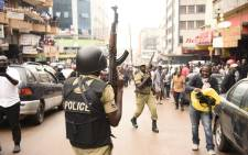 FILE: Ugandan police during a protest in Kampala. Picture: AFP