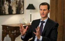 A file picture shows Syrian President Bashar Assad giving an interview to the AFP news agency, in Damascus, Syria, 11 February 2016. Picture: EPA