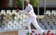 Nashua Mobile Cape Cobras bowler Dane Piedt celebrates taking a wicket. Picture: Facebook.