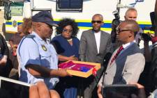 Gugulethu residents received a mobile police station on 2 June 2017. Picture: @SAPoliceService.