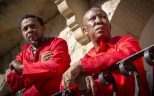FILE: EFF leader Julius Malema (R) and party spokesman Mbuyiseni Ndlozi (L) at Parliament Parliament on 17 May 2016. Picture: EWN