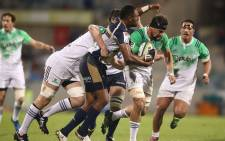 The Brumbies lost 18-13 to a fast finishing Highlanders. Picture: Twitter @BrumbiesRugby.