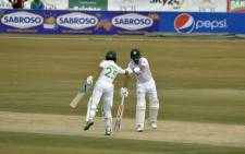 Babar Azam and Fawad Alam put on 123 runs for the 4th wicket on day 1 of the 2nd test against South Africa on 4 February 2021.  Picture: PCB Media.