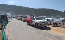 FILE: Emergency and rescue vehicles respond to an incident at Herolds Bay in George. Picture: Supplied