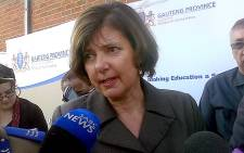 Gauteng Education MEC Barbara Creecy. Picture: Tumisang Ndlovu/EWN