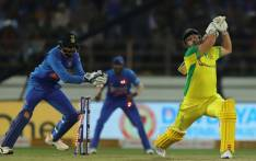 India's K L Rahul stumps Australia's Aaron Finch during the second ODI match in Rajkot on 17 January 2020. Picture: @BCCI/Twitter