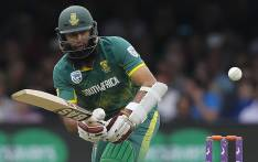 South Africa's Hashim Amla plays a shot during the third One-Day International (ODI) cricket match between England and South Africa at Lord's Cricket Ground in London on May 29, 2017. Picture: AFP.