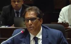 FILE: A screengrab shows media mogul Iqbal Survé at the PIC Inquiry in April 2019. Picture: SABCNews/Youtube