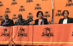 Prosecutions boss Shamila Batohi at a media briefing in Pretoria on 24 May 2019 where she introduced the head of the newly established Investigative Directorate, Advocate Hermione Cronje (right). Picture: Barry Bateman/EWN