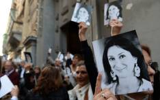 People leave the church of St Francis, after the Archbishop of Malta celebrated mass in memory of murdered journalist Daphne Caruana Galizia on the sixth month anniversary of her death in Valletta, Malta on 16 April 2018. Picture: AFP