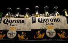Bottles of Corona beer displayed at a supermarket in San Rafael, California. Picture: AFP