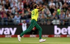 Imran Tahir celebrates the Proteas' victory over Sri Lanka in their Twenty20 International match at Newlands on 19 March 2019. Picture: @OfficialCSA/Twitter