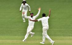 FILE: India's captain Virat Kohli (C) celebrates his side's victory in the first Test against Australia at the Adelaide Oval on 10 December 2018. Picture: AFP.
