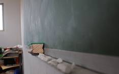 Chalk and a blackboard duster in the refurbished Samson Senior Primary School in the Eastern Cape. Picture: Reinart Toerien/EWN.