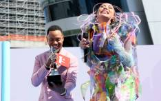 Terrence J and Sho Madjozi with the Best New International Act award onstage during the Pre Show at the 2019 BET Awards at Microsoft Theater on 24 June 2019 in Los Angeles, California. Picture: Getty Images for BET/AFP