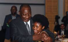 President Cyril Ramaphosa congratulating Michelle Nkadimeng on her Ubuntu Youth Diplomacy Award on 15 February 2020. Picture: @DIRCO_ZA/Twitter