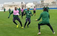 Members of Bafana Bafana practice ahead of their match against Libya for the 2019 Africa Cup of Nations qualifier. Picture: @BafanaBafana/Twitter
