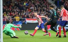 Saul Niguez scores for Atletico Madrid in their UEFA Champions League match against Liverpool on 18 February 2020. Picture: @atletienglish/Twitter