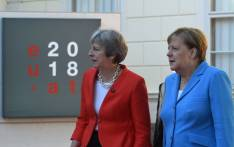 Britain's Prime Minister Theresa May (L) and German Chancellor Angela Merkel arrive at the Mozarteum University to attend a plenary session part of the EU Informal Summit of Heads of State or Government in Salzburg, Austria, on 20 September 2018. Picture: AFP