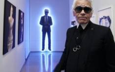 Fashion designer Karl Lagerfeld at an exhibition in Paris. Picture: AFP