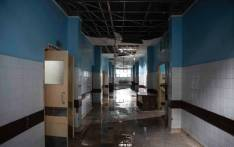 The surgical floor at the Central Hospital of Beira is flooded after Cyclone Idai swept through the city.  Picture: Christa Eybers/EWN.