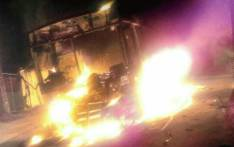 Two Golden Arrow buses were torched in Khayelitsha on 6 August 2018. Picture: @Khenzo4nic/Twitter