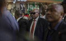 Jacob Zuma arrives at OR Tambo Int. Image credit: Sethembiso Zulu, EWM