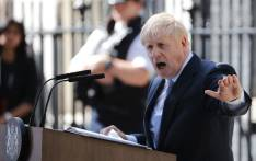 FILE: Britain's Prime Minister Boris Johnson gives a speech outside 10 Downing Street in London on 24 July 2019 on the day he was formally appointed British prime minister. Picture: AFP