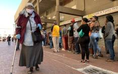Pensioner Anne Snyman leaves Mitchells Plain's Town Centre after collecting her pension payout on 30 March 2020. She said she stood in line for six hours. Picture: Kaylynn Palm/EWN