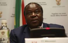 Finance Minister Tito Mboweni addressing the media prior to his Annual Budget speech taking place on 20 February 2018 in Cape Town. Pictures: Cindy Archillies/EWN.