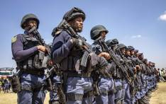 Members of the Tactical Response Team and National Intervention Unit prepare for deployment into the Westbury area. The team is tasked with addressing gang and drug-related crimes that have plagued the community here for years. Picture: Thomas Holder/EWN.