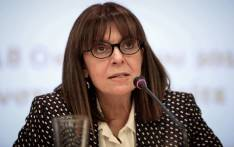 A photograph taken on October 18, 2018 shows candidate for the Greek Presidency Ekaterini Sakellaropoulou, then President of the Council, in Athens. Picture: AFP.
