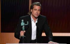 US actor Brad Pitt accepts the awards for best male actor in a supporting role during the 26th Annual Screen Actors Guild Awards show at the Shrine Auditorium in Los Angeles on 19 January 2020. Picture: AFP