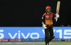 Australia's David Warner helped Hyderabad thrash Kolkata Knight Riders by nine wickets. Picture: @IPL/Twitter.